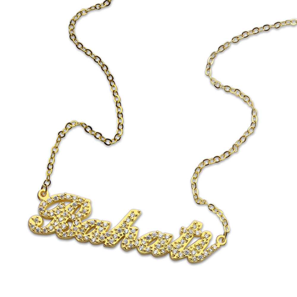 Chérie livraison directe complète pierre de naissance Carrie nom collier saint valentin cadeau d'anniversaire entreprise personnalisé argent/or/or Rose