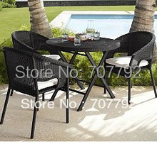Modern balconies wicker rattan furniture rattan chair and table