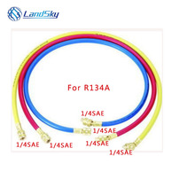 R134A high grade liquid filling tube three color fluoridation refrigerant 60  1/4 SAE 600PSI hydraulic hose pipe