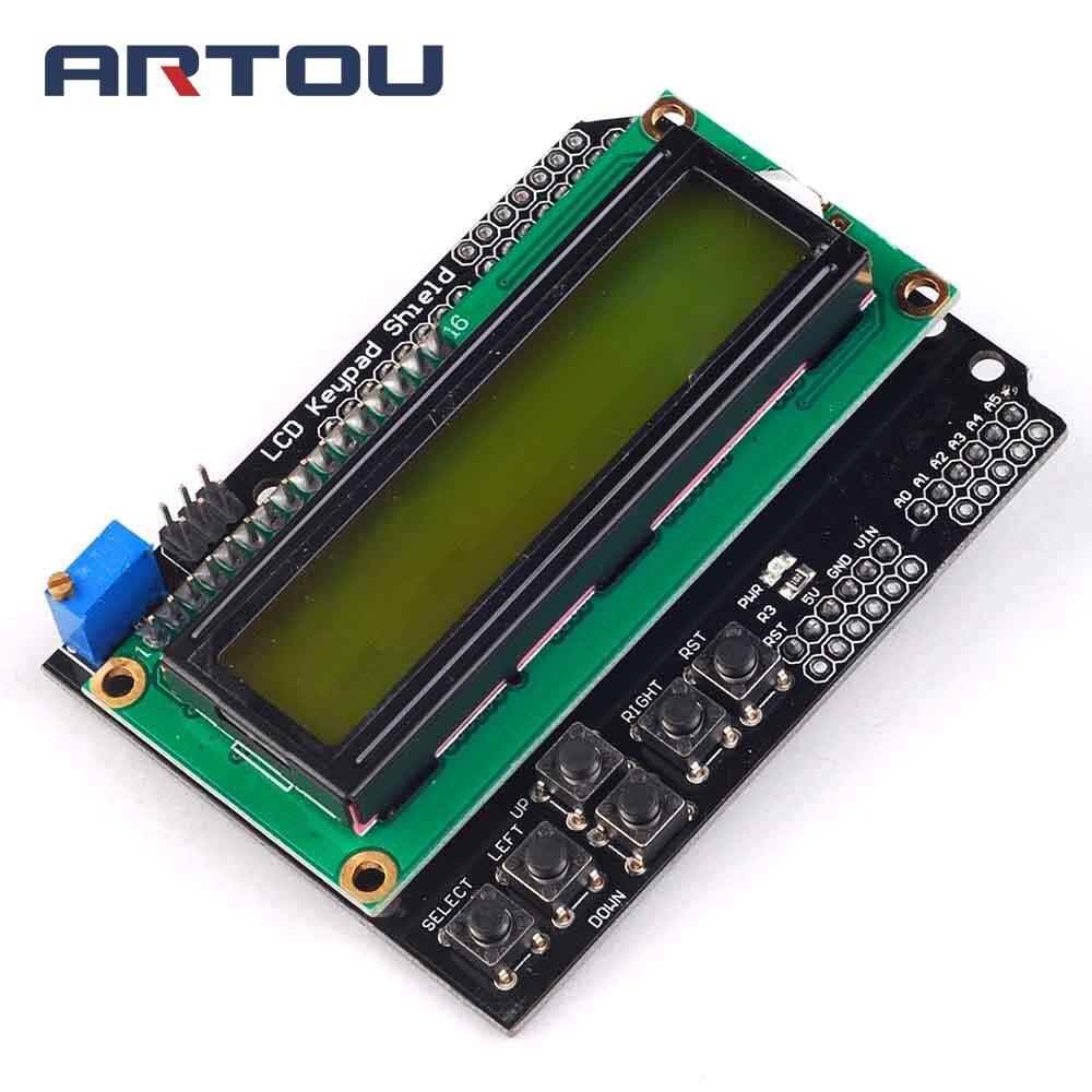 1PCS LCD Keypad Shield LCD1602 LCD 1602 Module Display Yellow and Green Screen for ATMEGA328 ATMEGA2560