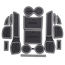 For 2014 2015 2016 Nissan X-Trail X Trail XTrail Gate Slot Mats Nonslip Cup Pad Antislip Door Groove Mat Car Accessories 15pcs