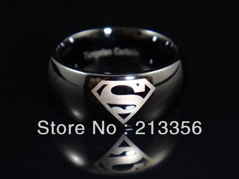 usa hot selling mens superman tungsten carbide wedding rings usa superhero man of steel rings - Superman Wedding Ring