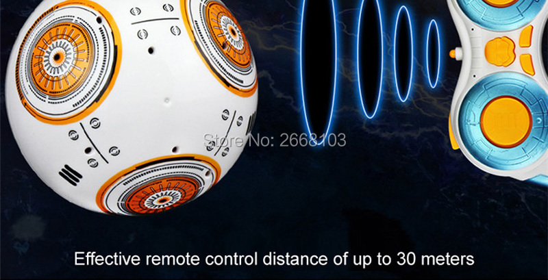 Upgrade Model Ball Star Wars RC BB-8 Droid Robot BB8 Intelligent Robot 2.4G Remote Control Toys For Girl Gifts With Sound Action 4
