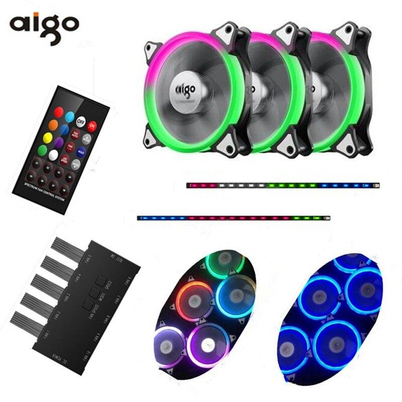Aigo fan iridescenza RGB 12 cm aurora apertura acqua multimodal ventola di raffreddamento ottava spazio C3 computer desktop fan
