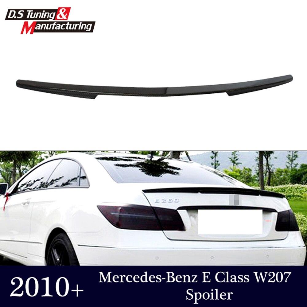 E classe w207 c207 en fiber de carbone pare-chocs arrière tronc spoiler ailes pour mercedes 2010-2016 2-porte coupé convertible e250 e200