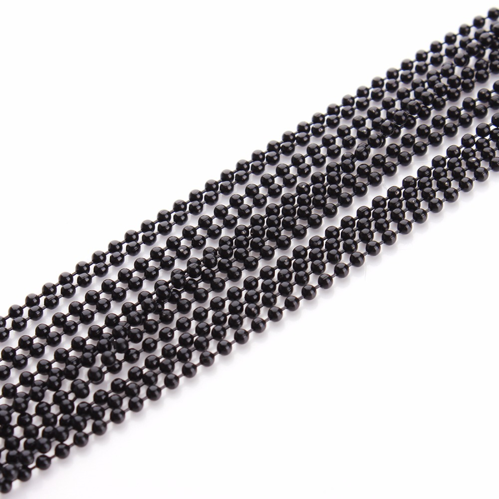 LOULEUR 10 Meter lot 1 2 1 5 2 mm Gold Silver Black Color Metal Ball Bead Chains Bulk for Diy Bracelet Necklaces Jewelry Making in Jewelry Findings Components from Jewelry Accessories