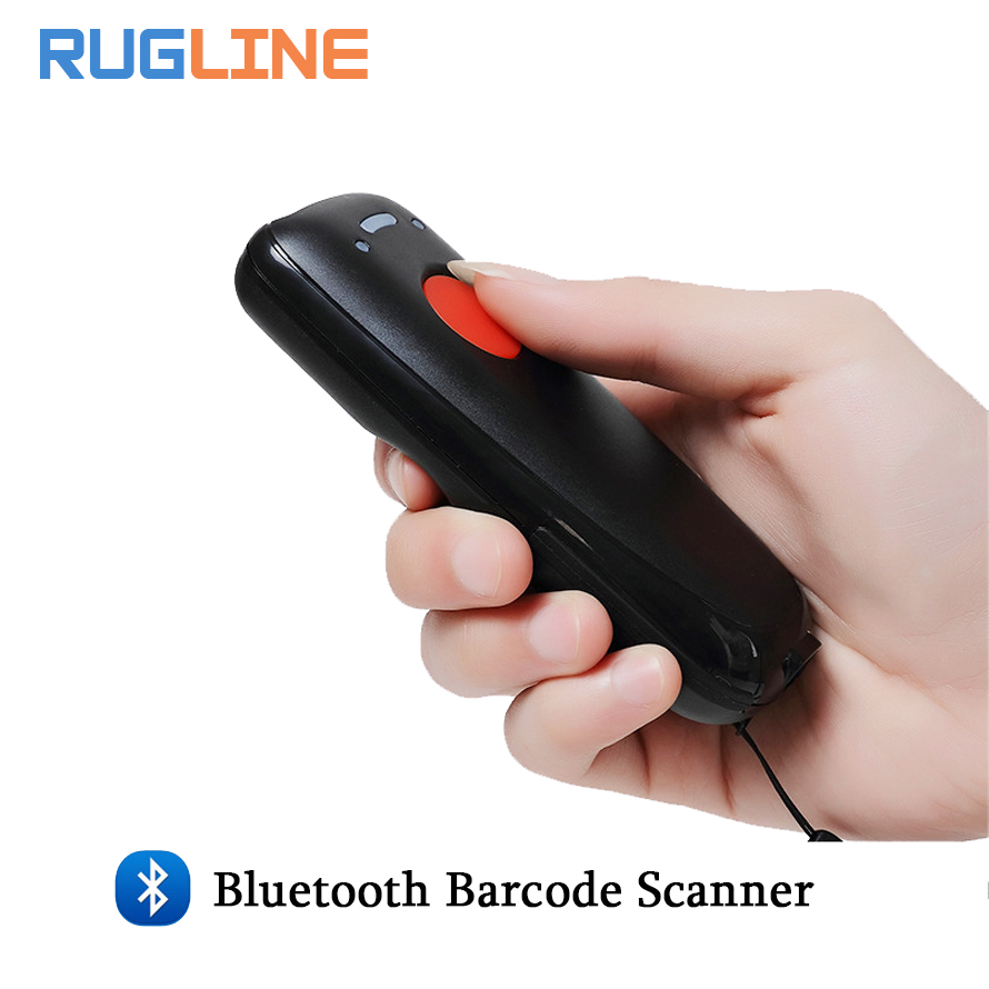 Pocket Wireless Bluetooth Barcode Scanner Laser Portable Reader Red Light CCD Bar Code Scanner for IOS Android Windows free shipping mj 2877 pocket portable wireless 2d barcode scanner usb bluetooth v4 0 qr bar code reader for android ios windows