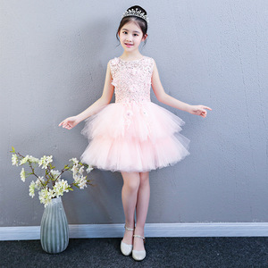 Image 4 - Performance Show Prom Flower Girl Wedding Dresses Kids Trailing Layered  Party Princess Birthday Dress First Communion Gown