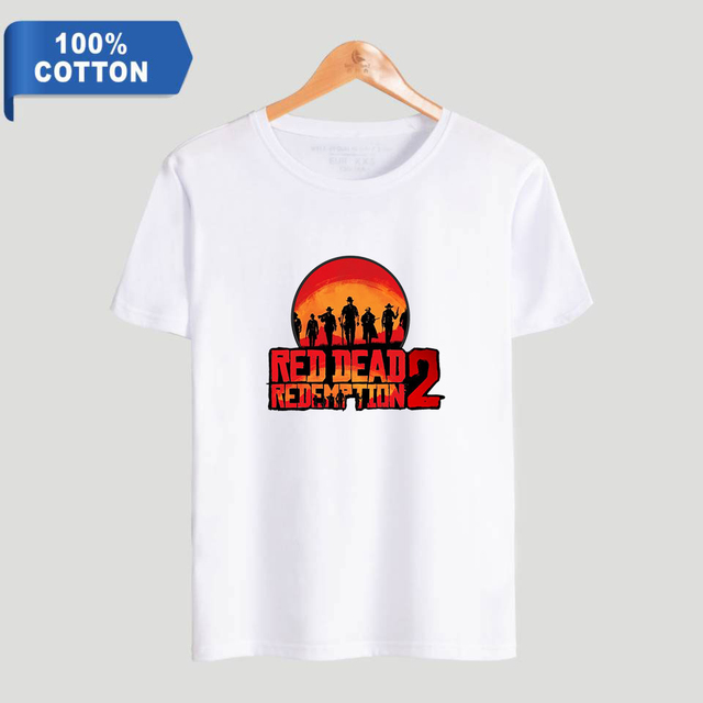 wangcangli Red Dead t shirts Casual O-Neck Cotton mens workout shirts tshirt men anime shirt fortnite short sleeve shirt women