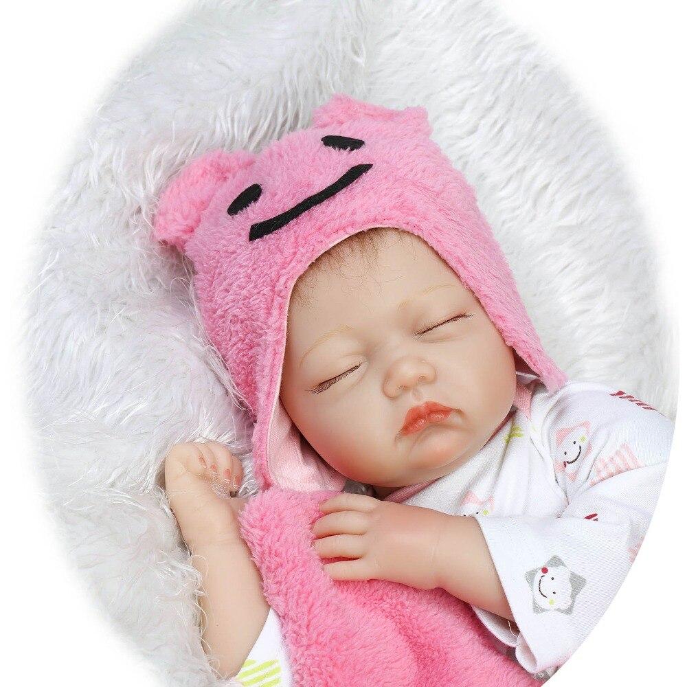 22 pouces Silicone membres tissu corps Reborn poupée cheveux enracinés bebe vivant rose dormant poupée réaliste enfants cadeau d'anniversaire bonecas