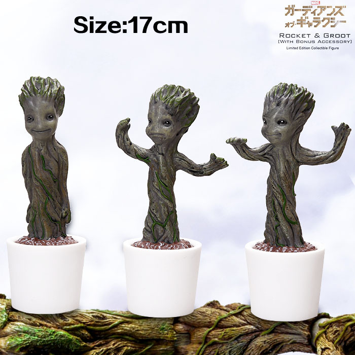 7 18CM Guardians of the Galaxy Tree Man PVC Action Figures Dancing Tree Man Kids Toys Gifts for Children 3pcs/set MVFG289 2016 new arrival the guardians galaxy mini dancing tree man action figure model toy doll