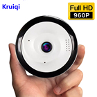 Kruiqi 360 Degree Panoramic Wifi Camera HD 960P Security Camera Baby Monitor Home Camera Pet Monitor Two Way Audio Video Camera