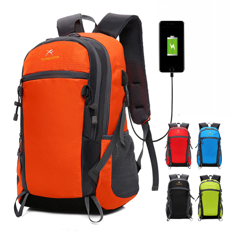 2019 New Nylon Unisex Men Backpack Travel Pack Sports Bag Pack Outdoor Mountaineering Hiking Climbing Camping Backpack For Male