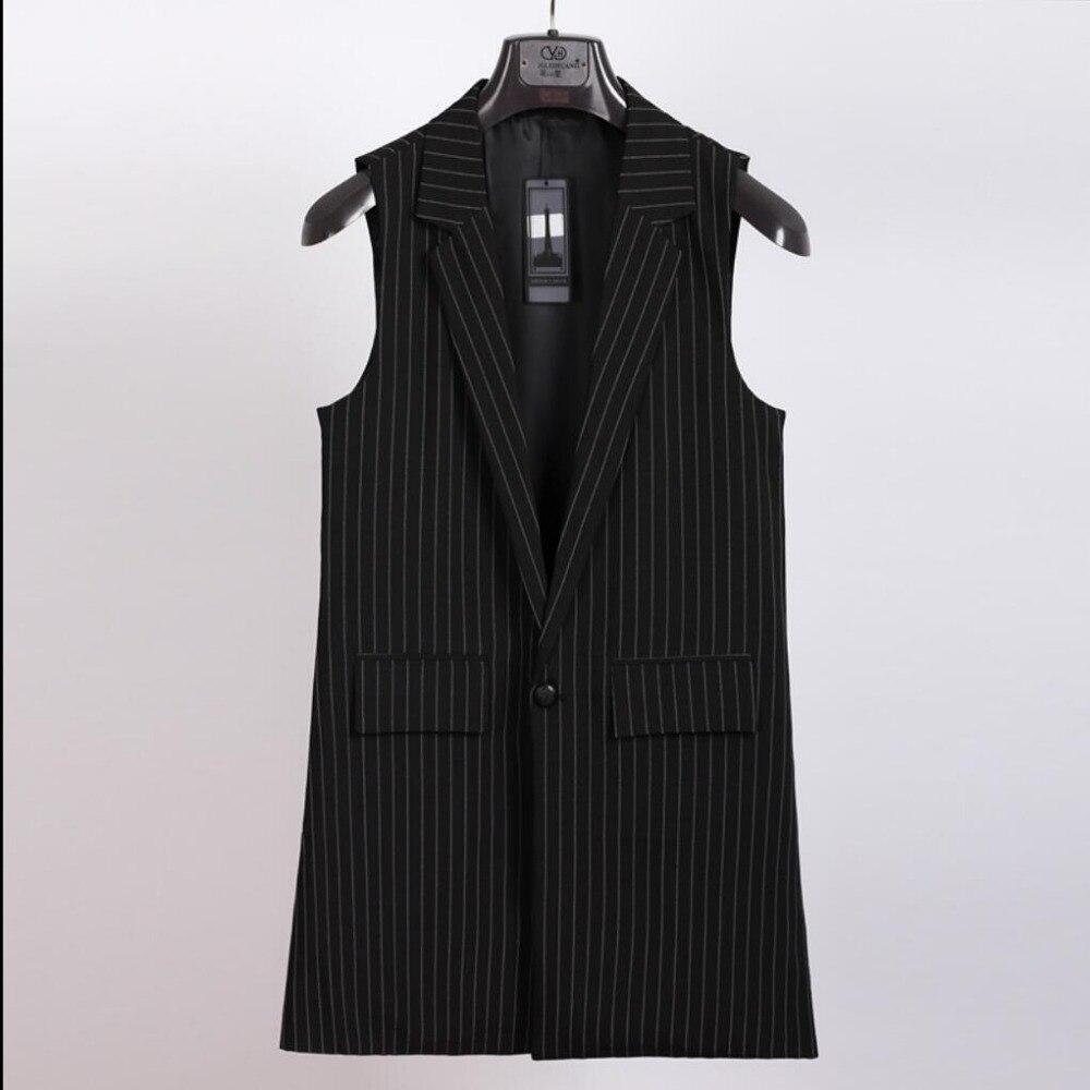 Sans D'été Rayures Veste Gilet Mode Coiffeur Vêtements