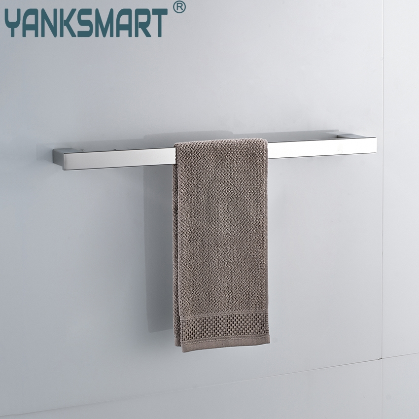 YANKSMART Chrome Finish Swivel Stainless Steel Wall Hanging Bathroom Towel Rail Holder Rack Shelf Single Bar Towel Holder. viborg deluxe sus304 stainless steel foldable wall mounted bathroom towel rack shelf towel holder storage
