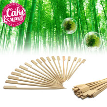 3.5 «BBQ Bamboo Paddle Skewers Churrasco Meat Bamboo Sticks Party Picnic Мейрамхана Барбекю Құралдар 200pcs Free Gift
