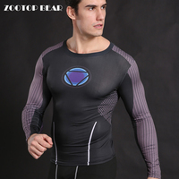 Iron Man T Shirt Men Armor Compression Cosplay Shirt Crossfit Tops Fitness Body Building Tees Superhero