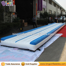 Free Shipping 12X2 Meters Inflatable Gymnastics mats high quality blue and white colors blow up gym mat for Toys sports