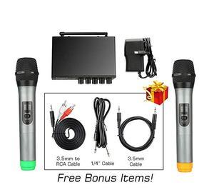 Image 5 - Беспроводная микрофонная система, портативный мини приемник для домашнего кинотеатра, аудио, DVD, Hi Fi