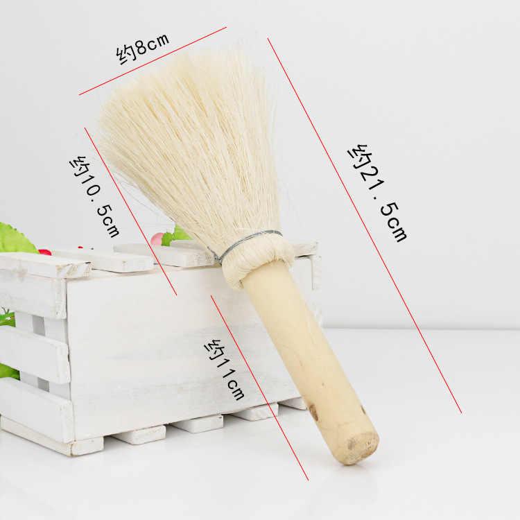 1 pc écologique doux cheveux naturel noix de coco palme lavage Pot brosse sans huile vaisselle nettoyage brosse en bois poignée brosse