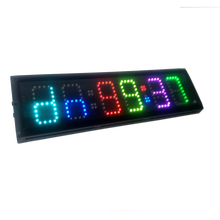 HongHao 4 6 digits RGB LED Race Timing Clock For Running Events Countdown/up stopwatch цена