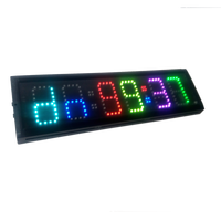 HongHao 4 6 digits RGB LED Race Timing Clock For Running Events Countdown/up stopwatch