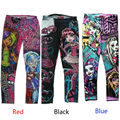 2016 Monster High Printed Childs Kids Girls Clothes Pants Childs Leggings Trousers