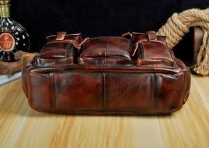 Image 5 - Original leather Men Fashion Handbag Business Briefcase Commercia Document Laptop Case Design Male Attache Portfolio Bag 3061 bu