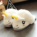 Winter Warm 1 pair 2 style children or adults  cartoon warm indoor slippers plush unicorn slippers for grown Ups home Slippers