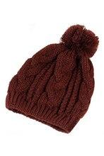 Теплая Зима Unisex Мужчины Женщины Вязать Промашка Шапочка Багги Hat-Кофе