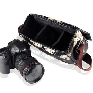 Image 3 - Wennew DSLR Waterproof PU Leather Case Camera Bag for Canon EOS 5D Mark IV 7D 6D II III 9000D 4000D 2000D Nikon SONY