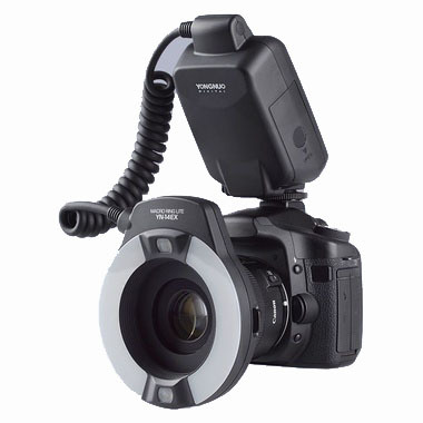 Yongnuo YN-14EX YongnuoYN 14EX Speedlite TTL Macro LED Ring Flash Luz para Canon Mark II Mark III 6D 5D 5D 7D 60D 70D 700D 650D