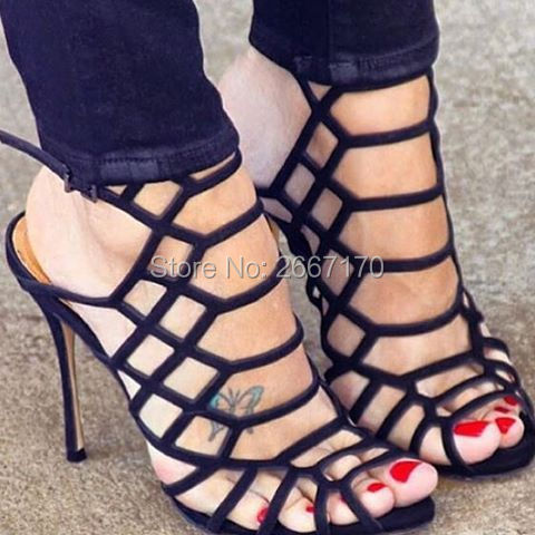 Sandali Toe Strappy As Cut Pic Estate Alti Lunghi out Peep Caged Sexy Scarpe Tacchi Moda Fibbia Stivali Pic Donne as Gladiatore Donna Coscia wPqgHPAax
