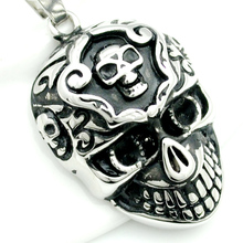 Vintage Punk Style Skull Pendant Necklace For Men 316L Stainless Steel New Fashion Cool Rock Jewelry Party Gifts HP1667