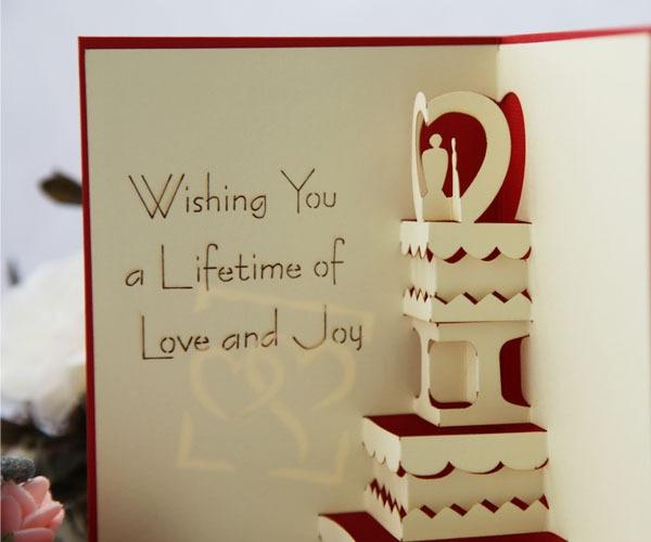 Edge Based Three Dimensional Wedding Cake Handmade Paper Sculpture