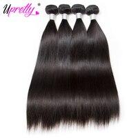 Upretty Cheveux Raw Malaisie Cheveux Raides 4 Bundles Offre Naturel Noir Couleur Remy de Cheveux Humains Weave Bundles Extensions de Cheveux Humains
