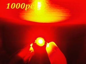 Free shipping 1000pcs 3w 3watt Red High Power 3W red LED Lamp Light ultra Bright 3w red led beads