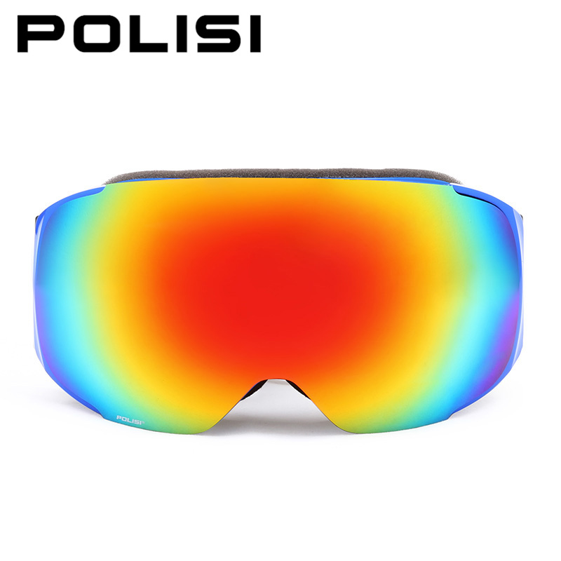 POLISI Professional Skiing Goggles Replaceable 2 Lenses Anti-Fog Snow Glasses Men Women UV400 Winter Snowboard Skate Eyewear polisi brand new designed anti fog cycling glasses sports eyewear polarized glasses bicycle goggles bike sunglasses 5 lenses