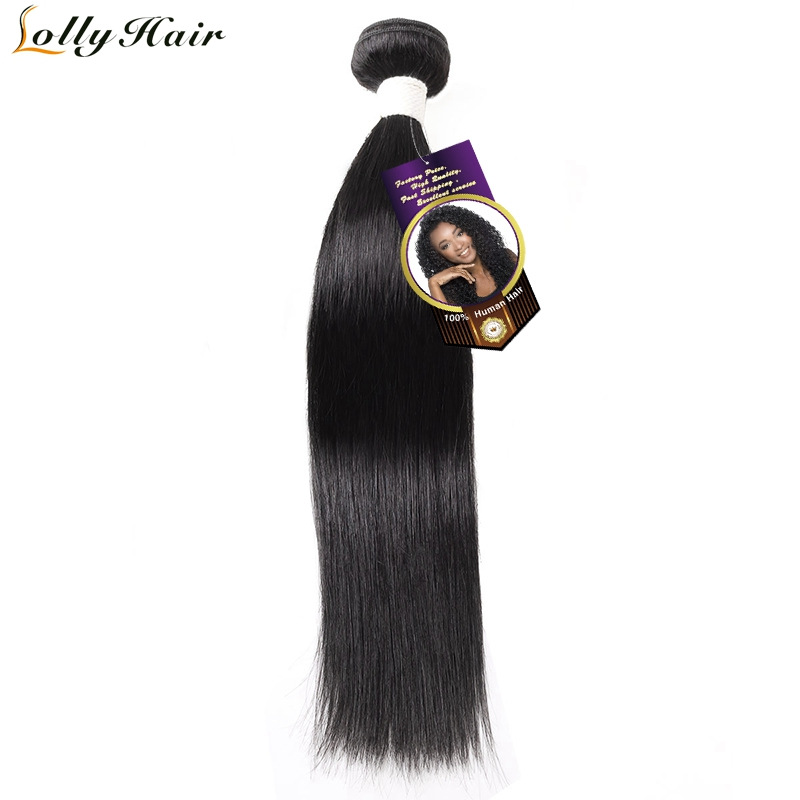 Lolly Hair Indian Straight Hair Bundles Human Hair Extensions 8-28 inch Natural Color Remy Hair Bundles 1 Piece Free Shipping