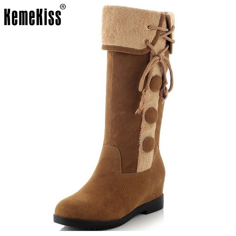 Size 34-39 Gladiator Snow Boots Women Flats Half Short Boot Ladies Warm Plush Winter Mid Calf Boots Footwear Shoes Woman
