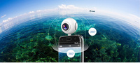 KaRue 360 camera 360 Panoramic Camera VR Camera 210 Degree Dual Wide Angle Fisheye Lens 360 Camera for Android smartphone