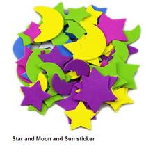 Children Educational toy for kids 50pcs color petal sponge sticker for baby eva foam shapes cute