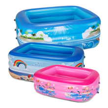 Hot eco-friendly PVC Swimming Ring Round Three-color Children's Inflatable Baby Pool Thicken PVC Party Swimming Pool Float iendycn baby swimming pool three layers inflatable square green pvc swimming pool gxy173
