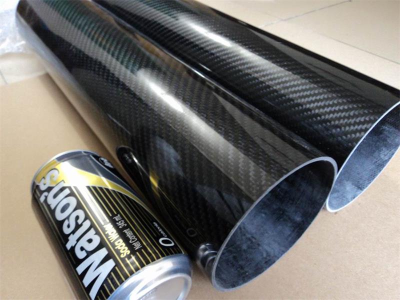 2pcs lot 60MM OD x 57MM ID x 500MM100 Roll 3k Matte plain weave Carbon Fiber