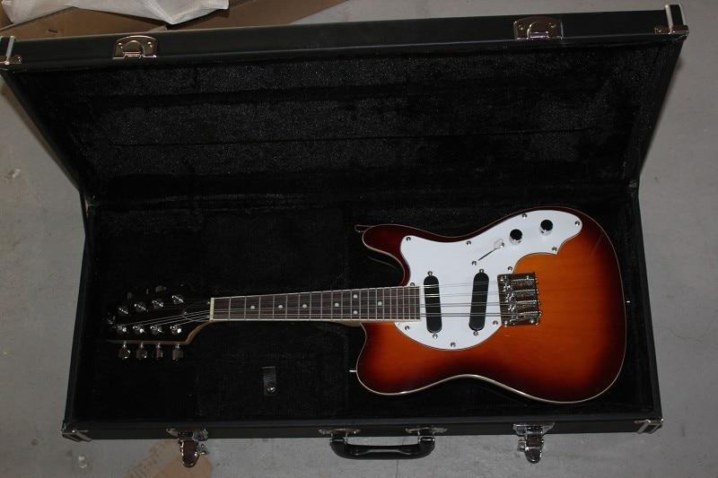 Usine vente Top qualité 8 cordes solide corps 20 frettes mandoline sunburst guitare électrique avec étui rigide-1411-11