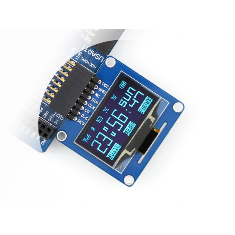 module Waveshare 10pcs/lot 1.3inch OLED (A) 128x64 Display LED LCD Module SPI/I2C Interfaces Curved/Horizontal Pinheader free shipping 2 7 inch 128 64 12864 30pins 30p yellow oled display module connector