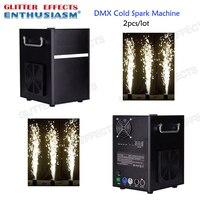 2 шт./лот Professional dmx этап холодной искры фонтан машина titanium порошок Пожарная для свадьбы