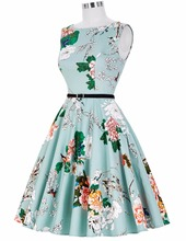 Women Dress New Patterns 2016 Plus Size Clothing Audrey Hepburn Floral Robe Retro Swing Casual 50s Vintage Rockabilly Dresses