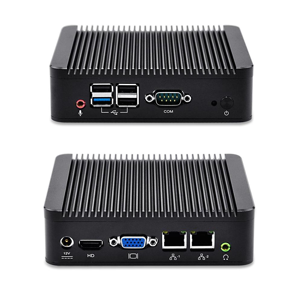 Qotom Q190S Barebone System On Board Computer Mini Desktop PC Quad Core Dual LAN Celeron Processor