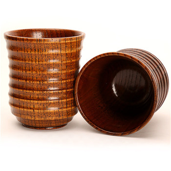 20pcs/lot Chinese Style Handmade Natural Wooden Tea Cups Creative Wooden Cups Drinkware Kitchen Gadgets Accessories